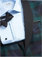 Black Watch Wool Dinner Jacket with Shawl Collar