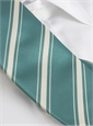 Silk Woven Double Stripe Tie in Aqua