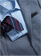 Silk Multi-Color Bar Stripe Tie in Forest