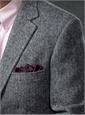 Black and Silver Herringbone Harris Tweed Sport Coat