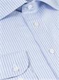 Sky and Denim Narrow Stripe Spread Collar