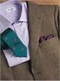 Peat Glen Plaid Lambswool Sport Coat with Teal and Purple Windowpane