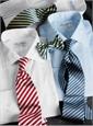 Classic White Twill Spread Collar