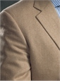 Sable and Cream Herringbone Cashmere Sport Coat