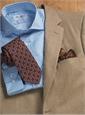 Sable and Cream Herringbone Cashmere Sport Coat
