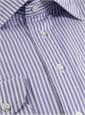 Purple/White Striped Spread Collar
