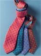 Silk Neat Motif Tie in Atlantic
