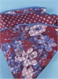 Silk Reversible Floral Pocket Round in Ruby