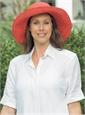 Ladies Wide-Brim Raffia Hat in Pomelo