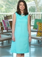 Ladies Cotton Shift Dress in Aqua