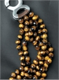 Tiger Eye 6-strand Necklace
