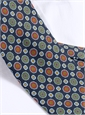 Silk Neat Print Tie in Navy
