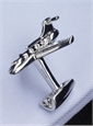 "Sterling Silver ""Private Jet"" Cufflinks"
