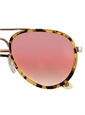 Tortoise Aviator Sunglasses with Mirrored Rose Gold Lenses