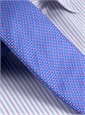 Silk Basketweave Tie in Cobalt and Rose