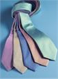 Silk Basketweave Tie in Cobalt and Rose