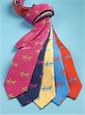 Silk Woven Lab Motif Tie in Navy