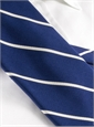 Mogador Thin Bar Stripe Tie in Navy