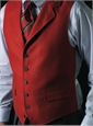 Red Lightweight Wool Waistcoat