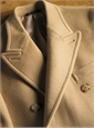 Double-Breasted Polo Coat in Camel Wool