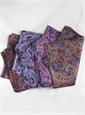 Ladies Silk Paisley Scarf in Marine