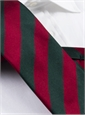 Red and Green Block Stripe Tie
