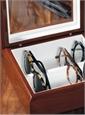 Smaller Eyewear Chest in Mahogany Finish