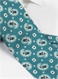 Silk Printed Paisley Tie in Turquoise