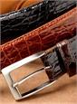 Shiny Finish Crocodile Belts