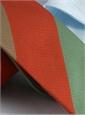 Mogador Woven Multi Stripe Tie in Chilli, Mint and Mocha