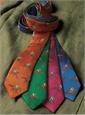 Silk Woven Derby Motif Tie in Magenta