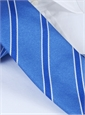 Silk Stripe Tie in Cornflower