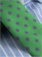 Silk Print Diamond Tie in Kelly