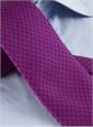 Silk Print Polka Dot Tie in Fuchsia