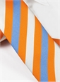 Silk Block Stripe Tie in Orange