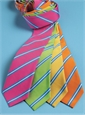 Mogador Silk Stripe Tie in Lime
