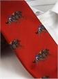 Silk Woven Equestrian Tie in Chili