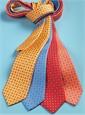 Silk Neat Print Tie in Marigold