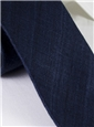 Shantung Silk Solid Tie in Navy