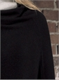Ladies Cashmere Poncho in Black