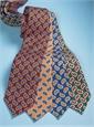 Wool Print Paisley Tie in Wine