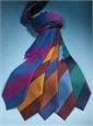 Silk Block Stripe Tie in Cornflower