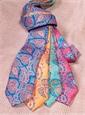 Silk Leaf Paisley Print Tie in Mango