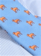 Silk Print Dog Motif Tie in Cobalt