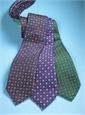 Silk Neat Print Woven Tie in Navy