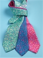 Silk Floral Printed Tie in Fuchsia