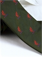 Silk Woven Griffin Motif Tie in Rifle