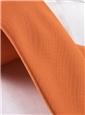 Mogador Silk Solid Tie in Tangerine