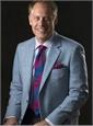 Silk Block Stripe Tie in Royal Blue