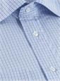 200's Classic Blue Check Spread Collar